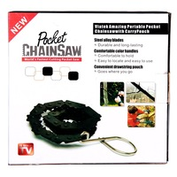 Bamboo pocket chain saw chain saw