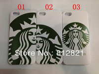 Wholesale STARBUCKS Coffee girl Hard plastic hard case for iphone 5 cellphone Iphone 5 back cover skin,10pcs/lot