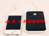 Real Capacity 5000MAh Solar Mobile Power Bank 2 USB Solar Emergency Portable Panel Charger Battery for IPhone MP3 MP4 PDA