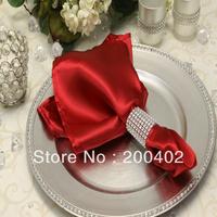 free shipping plain satin napkin wedding/napkins