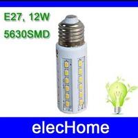 Pure White Warm White Lighting E27 12W 42 LED 5630 SMD Corn Light Lamp Bulb AC 210-240V 220V 230V 240V Free Shipping