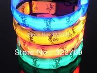2.0cm fashion nylon LED pet Dog Collar free shipping