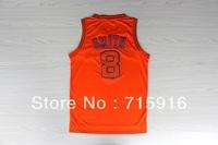 # 8 JR Smith orange new fabrics jersey and free shipping