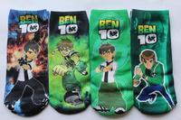 hot sale 2013 New Children boys BEN 10 socks kids baby cute fashion boy cartoon tube sock AGES 2-5 / 5-12 years 12pairs/lot