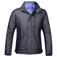 Quality wholesale winter outerwear clothing patchwork high quality male stand collar wadded jacket cotton-padded jacket