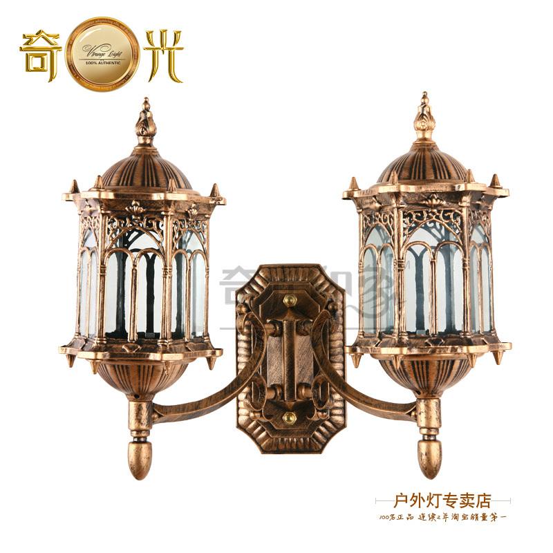 Outdoor double slider wall lamp balcony fashion lamp waterproof lighting fitting outdoor gazebo wall lights(China (Mainland))
