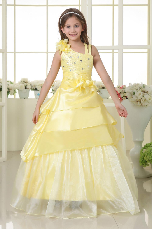 Yellow Springtime Flower Girl Dresses 31