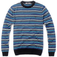 Free shipping wholesale autumn and winter clothing quality sweater color block stripe male knitted o-neck sweater