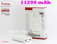 1pcs/lot  Yoobao 2 Dual USB 11200mAh power bank moblie phone backup powers External Battery pack 11200mAh Free shipping