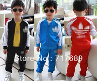 Free shipping hot latest children clothing coat + pants spring autumn fashion boys girls kids suit clothes size 90-130