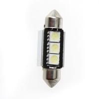 Free Shipping 10PCS 37mm 5050 3 SMD LED Canbus White Car Interior Dome Festoon Light Lamp Bulb