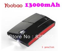 1pcs/lot Yoobao 2 Dual USB 13000mAh power bank moblie phone backup powers External Battery pack 13000mAh Free shipping