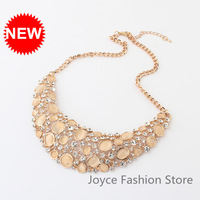 Min Order $10,2013 Statement Vintage Chokers Chucky Necklaces,Retro Hollow Bib Collar Rhinestone Chunky Necklaces For Women,N51