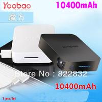 1pcs/lot Yoobao 2 Dual USB 10400mAh power bank moblie phone backup powers External Battery pack 10400mAh Free shipping