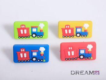 Single Hole train drawer knob, Furniture Handles and knobs /kids room handle/ Children Cartoon Carbinet Knobs