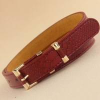 Crocodile pattern strap genuine leather Women women's all-match belt female jeans decoration strap