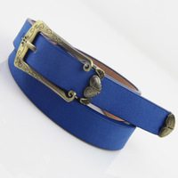 Xiaxin vintage fly wings love candy color women's strap tieclasps pigskin fashion belt female blue