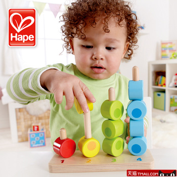 Hape toy wooden puzzle digital gradient classification of gift