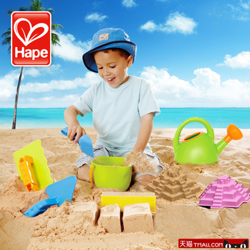 Hape beach toy set child baby sand Large hogshead water bottle brick tools