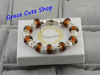Free Shipping Colorful Crystal Beaded Bracelet Fashion Jewelry Hand-Made Retro Style High Polishing Top Quality #PB-24