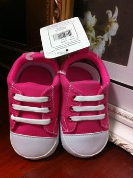 Luvable friends infant toddler shoes soft outsole lacing