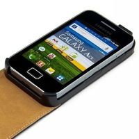 Genuine Leather Case for Samsung Galaxy Ace S5830  free shipping +free screen protector