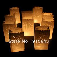 Free shipping 26*15*9cm HIGH QUALITY! Flame Retardant Paper Candle Bag/Luminary Bag for wedding/birthday/valentin/christmas ...