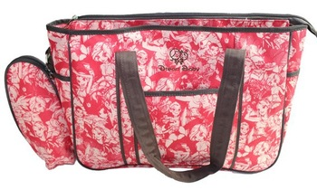 Hot sale , fashion large size mummy bags, brand quality nappy bag with small bottle bags etc