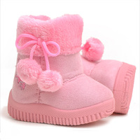 2013 child winter shoes snow boots baby shoes soft outsole male female child embroidered