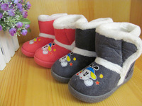 2011 child cotton boots child thermal winter boots baby toddler soft outsole cotton-padded shoes
