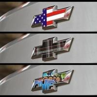 Wholesale Graffiti lattice flag ink-jet printing car LOGO sticker Special for Chevrolet Cruze LOGO   2 pcs/set       N-226