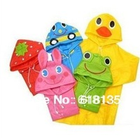 Hotsale Funny Rain Coat Kids children Raincoat Rainwear/Rainsuit,Kids Waterproof Animal Raincoat,