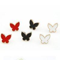 Wholsale cute butterfly stud earrings cheap kids earrings , kids jewelry 12 pairs / lot  FREE shipping