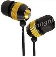 Wholesale 100pcs Metal Earphone Bass earphone In-ear style 3.5mm jack Fashion Classic model Hot selling DHL Fedex free shipping