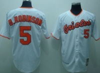 Free shipping Baltimore Orioles #5 Brooks Robinson baseball Jerseys oranger gray white name and number are sewn on