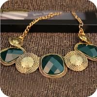 Promotion! Wholesale!  Fashion lady women jewelry accessory elegant vintage big beads short alloy necklace SN325