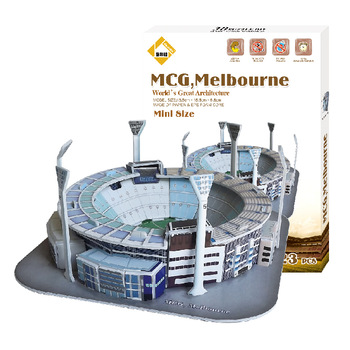 Free shipping DIY Melbourne MCG stadium Children toys puzzle struction building model 3D puzzle gift paper crafts model