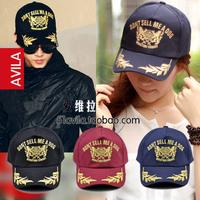 Summer male women's lovers of wheat gold embroidery cap sunbonnet sun hat baseball cap