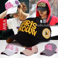 Summer male women's chris letter baseball cap lovers cap hat travel cap sun hat