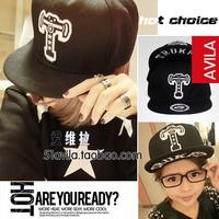 Trukfit plate flat along the cap five-pointed star t letter baseball cap hiphop hip-hop flat brim hat