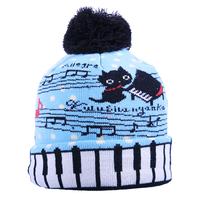 Siggi autumn and winter hat child music female winter warm knitted hat
