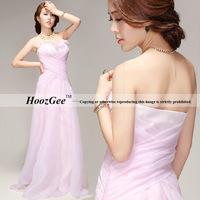 A-Line Sweetheart Strapless Floor-Length Criss-Cross Evening Dress HoozGee-4227