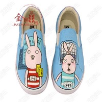 Canvas shoes hand-painted shoes rabbit painting