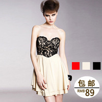 Imboaz fashion sexy tube top quality heart shape princess dress one-piece dress