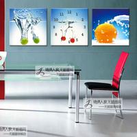 Modern decorative painting wall painting frameless painting wall clock trippings paintings fruit mural clock