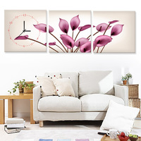Frameless painting the living room wall clock quieten modern decorative painting mural distribution box kilowatthourmeter box