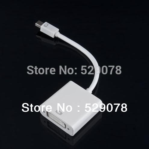 Mini DisplayPort DP Display Port to DVI Adapter Cable Cord for Macbook Pro Air iMac Mac Mini Retail Free Shipping(China (Mainland))