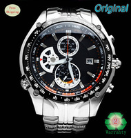 TOP Quality EF-543D-7AV EF-543D-1AV 100M Waterproof NEW 1/20 Second Stopwatch Pendulum Swing Function Men's quartz wristwatch