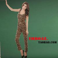 Imboaz fashion leopard print vest style jumpsuit slim skinny pants pencil pants casual trousers female