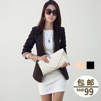 Imboaz all-match fashion one button ol elegant leopard print slim small suit jacket female